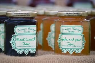 Blackcurrant jam and Apple and pear jam